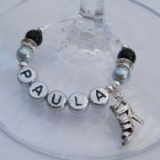Trendy High Heel Shoe Personalised Wine Glass Charm - Elegance Style